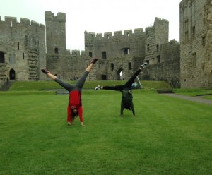 Caernarfon Castle Cartwheels