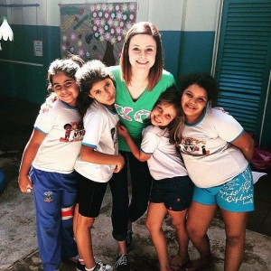 Visit to an after school program for under privileged children in Rio Preto, SP, Brazil