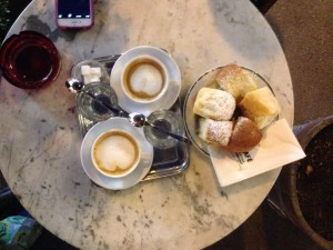 This was a night of fun as Monica and I walked through Vienna at night. Vienna is gorgeous but it becomes even more beautiful once the sun sets. We tried the classic coffee and their special bakery item, a sweet bread roll with plum jam inside!