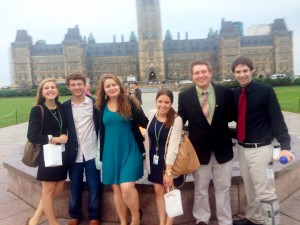 OSU interns on Parliament Hill!