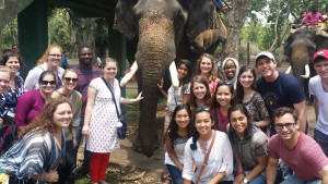 We all got to ride on an elephant!