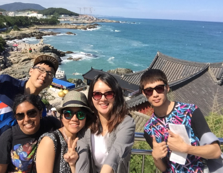 view from temple in Busan