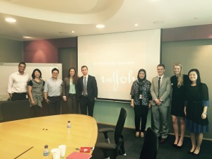 OSU student team with the executives of Johnson & Johnson, South East Asia