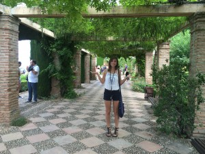 Picture of Me at La Alhambra in Granada, Spain