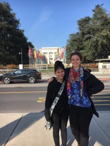 My little sister and I outside the UN