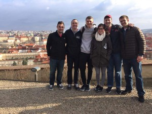 The group - outside of Prague Castle