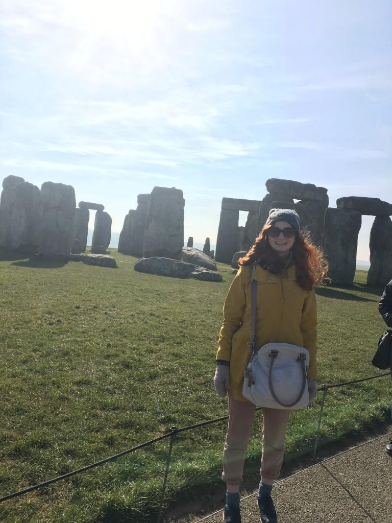Gleeful at Stonehenge!