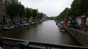 One of Amsterdam's many canals.