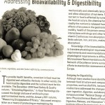 Addressing Bioavailability