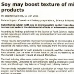 Soy May Boost Texture