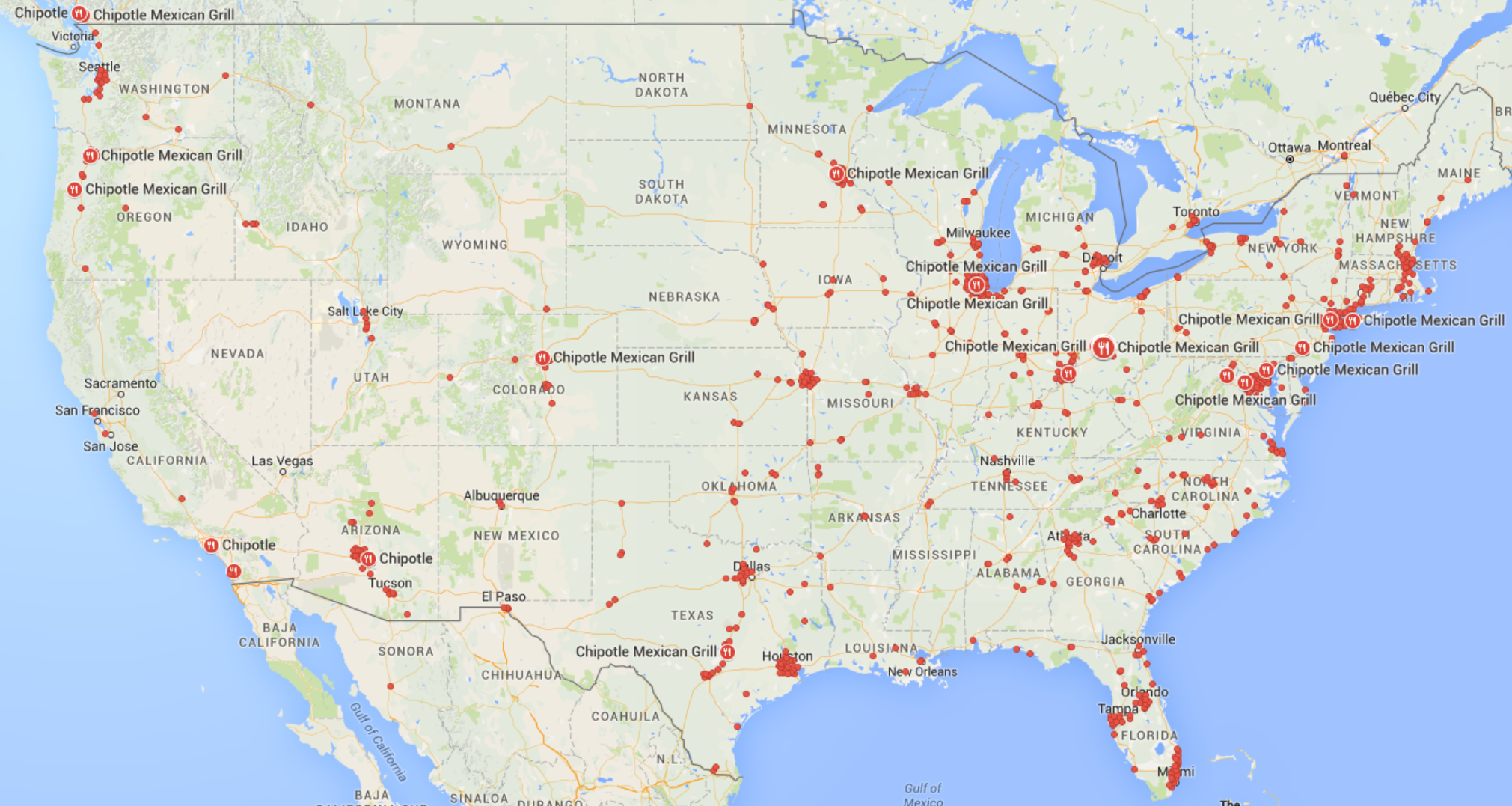 Chipotle as a National nd | Chipotle Commodity Chain on tj maxx map, taco map, lululemon map, arby's map, petland map, friendly's map, graeter's map, cumberland farms map, dutch bros map, cold stone creamery map, macaroni grill map, dunkin donuts map, burgerville map, supercuts map, zaxbys map, el pollo loco map, dave & buster's map, fazoli's map, chic fil a map, old navy map,