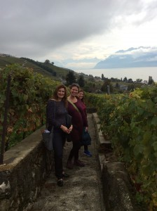 Me, Kelly Musick, and Tasha Snyder on the Lavaux Vineyard walking tour outside of Lausanne, Switzerland. We were attending the Society for Longitudinal and Life Course Studies conference.