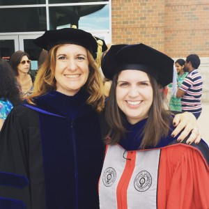 My former graduate student Sara Mernitz and I at her graduation in 2016