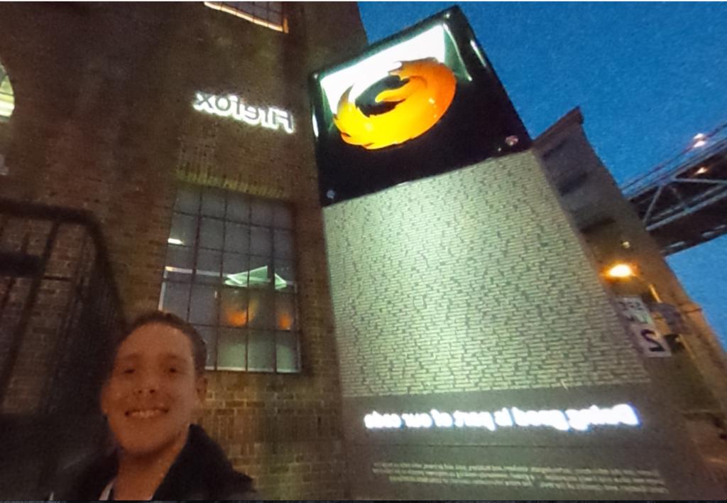 Outside Mozilla in San Francisco