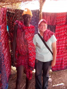 "You can go to the Maasai market.  This picture was taken because this guy pointed at me and said ""Picha"" because he wanted a picture of me!"