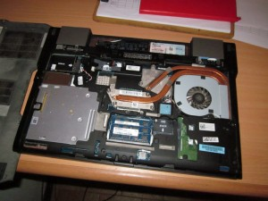 A little laptop surgery, it just needed the dust cleaned out the the fan.