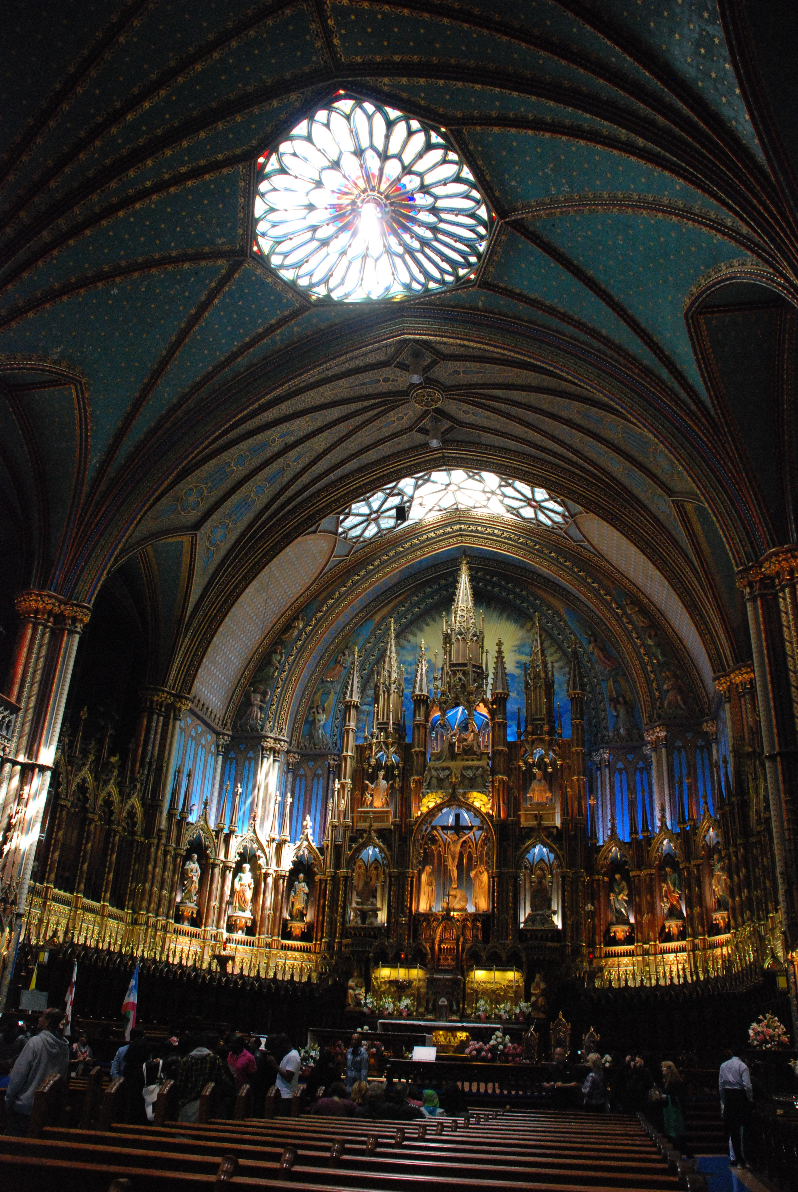 In Awe Of The Notre Dame Cathedral Montreal