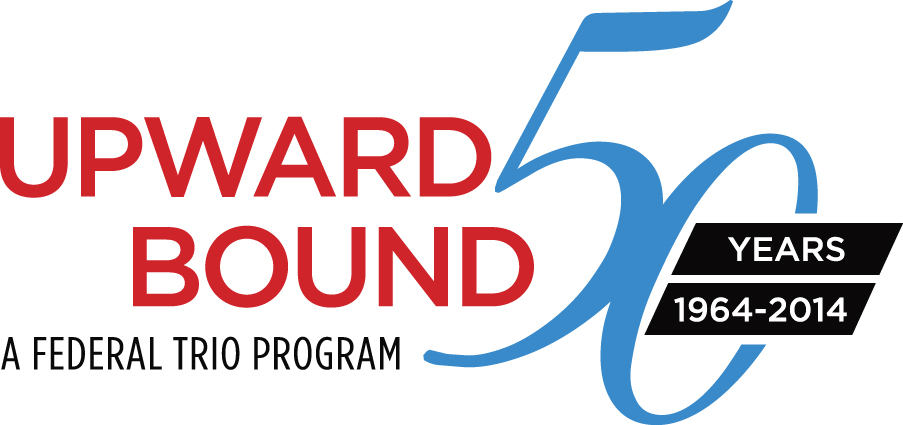 50th Anniversery Upward bound logo tagline-color
