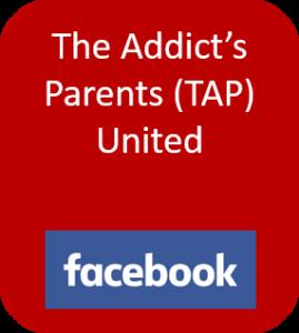 The Addict's Parents United button