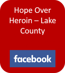 Hope Over Heroin Lake County button