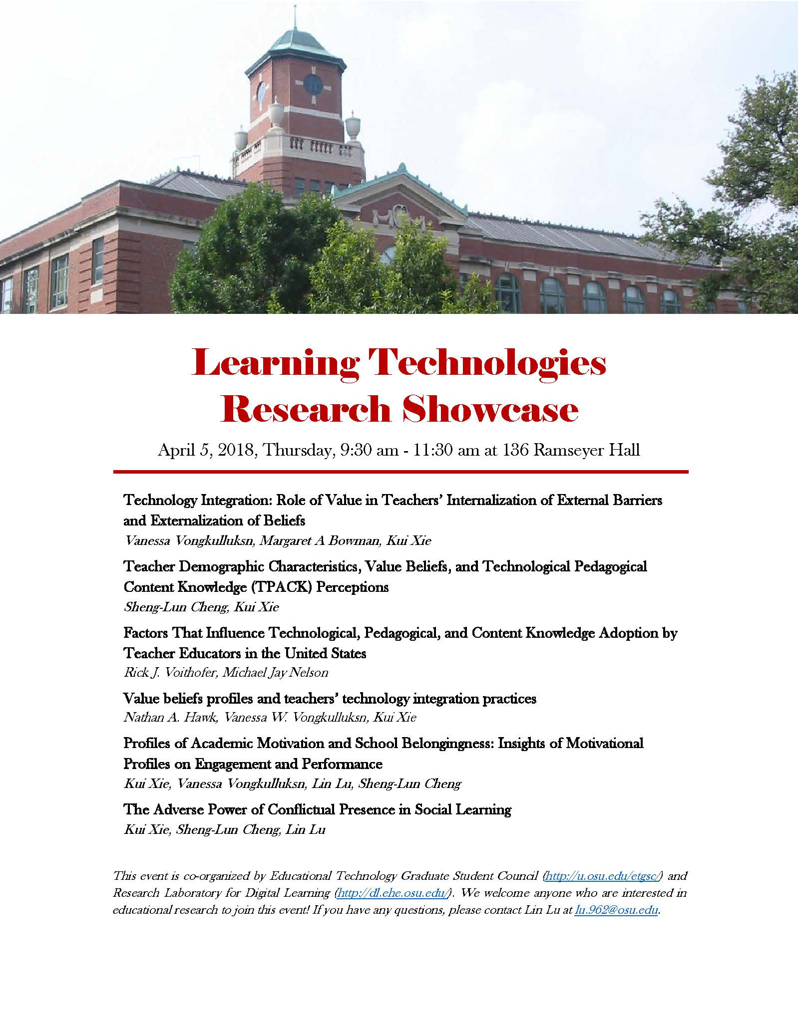 2018 Learing Tech Showcase Event Flyer