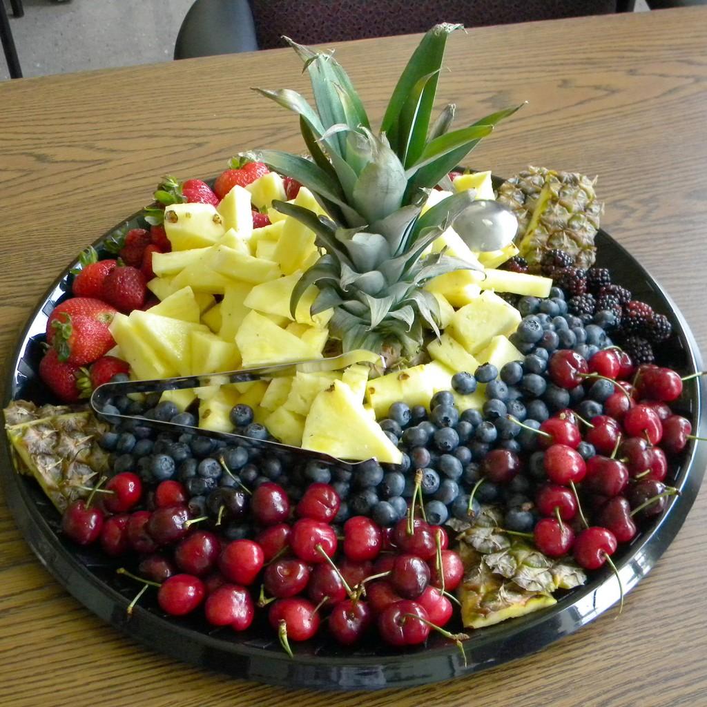 One of Joe Cora's many talents: fruit platter arrangements.