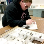Cherokee adding barcode label to specimens