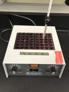 Incubator used for heating DNA samples.