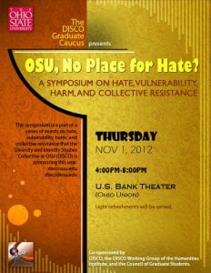 OSU, No Place for Hate?
