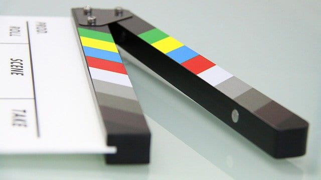Colorful clapboard
