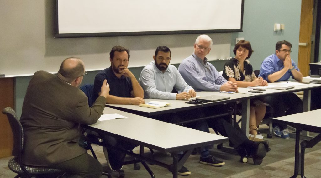 "CNEP panelists discussed ""Media's Role in Elections: International Perspectives"" on October 3, 2016, at The Ohio State University."