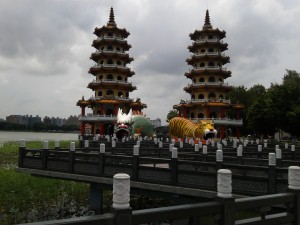 The famous Dragon and Tiger Pagodas in Kaohsiung.