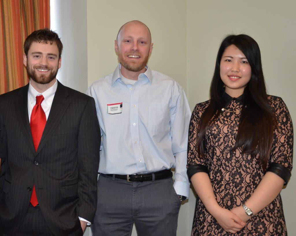 Stewart Heckman, Travis Mountain and Tingting Zhang. Not pictured: Su Yun Bae.