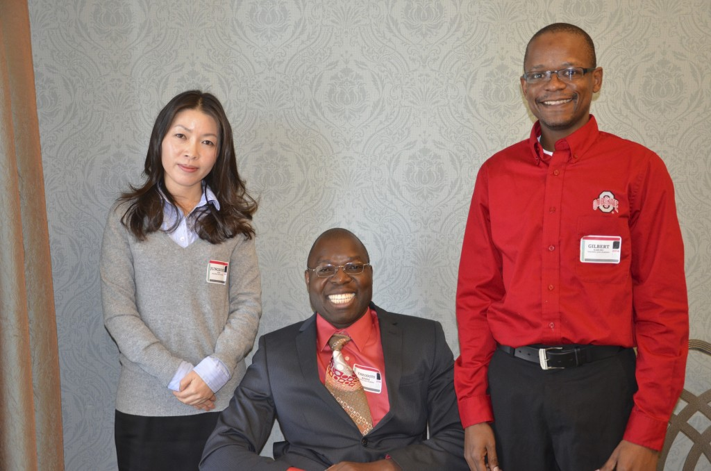 Jungsook Kim, Theodoto Ressa and Gilbert Kaburu