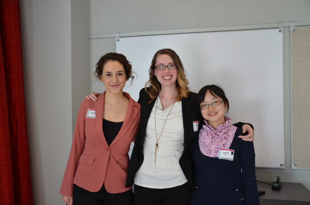 Lauren Altenburger, Emma Hooper and Qiong Wu