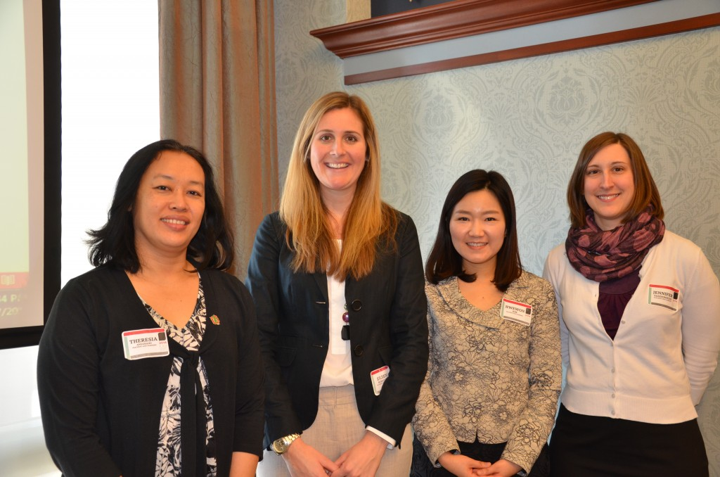 Theresia Anggraini, Eileen Buescher, Hwewon Kim and Jennifer VanDerHeide