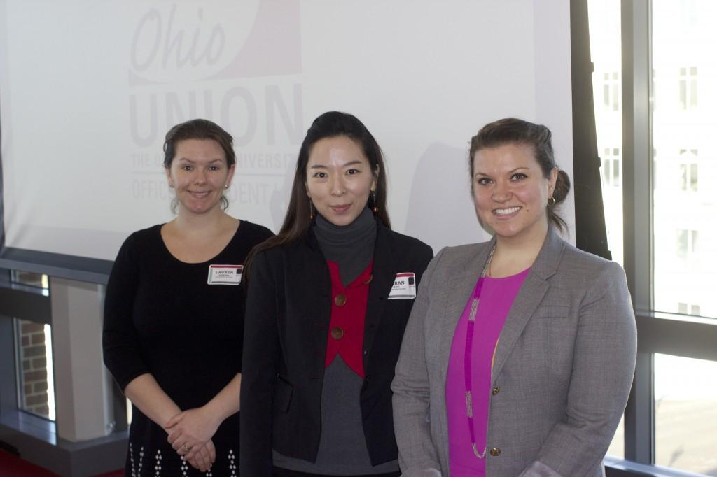 Lauren Porter, Ahran Koo and Lauren Bailes
