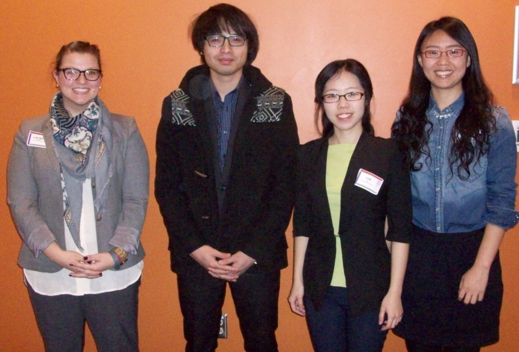 Session I Oral Presenters - Hayes Cape Room (from left): Lauren Bailes, Sheng-Lun Cheng, Lin Lu & Zhiru Sun.