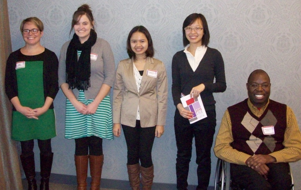 Session I Oral Presenters - Tanya R. Rutner (from left): Jenna Tague, Maretha Dellarosa, Dinglei Huang & Theodoto Ressa