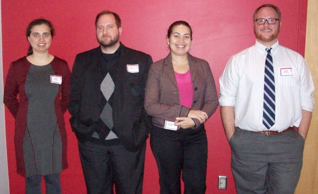 Session I Oral Presenters - Suzanne M. Scharer Room (from left): Mine Dogucu, Joshua Garner, Gleides Lopes Rizzi & John Schaefer.