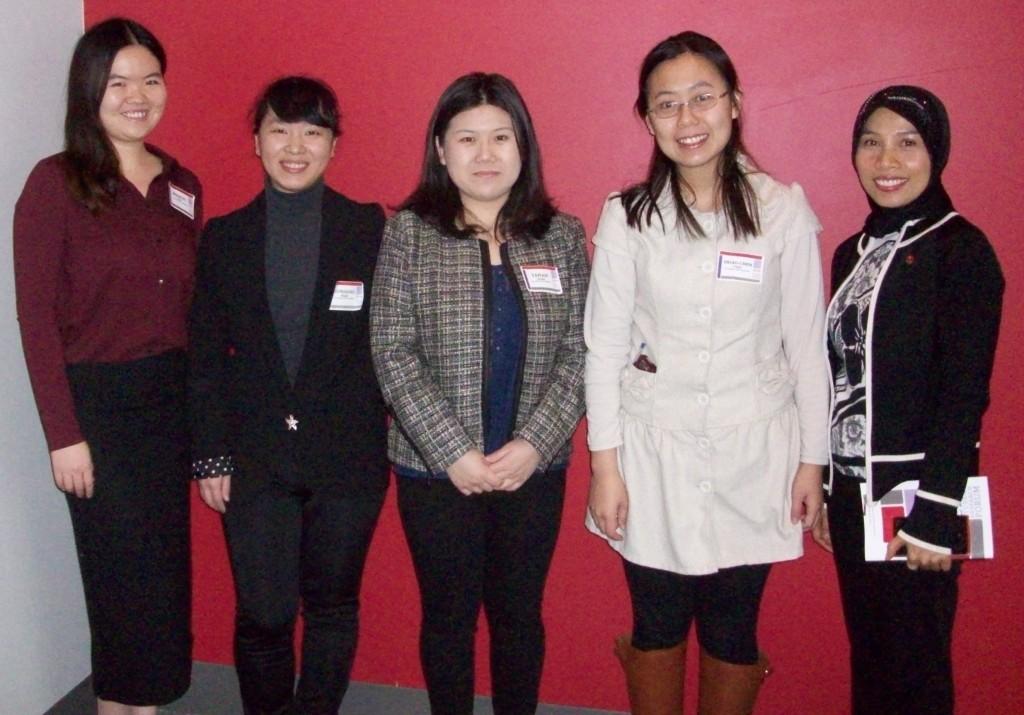 Session II Oral Presenters - Suzanne M. Scharer Room (from left): Mengyi Chen, EunJeong Park, Yanan Zhao, Shiao-Chen Tsai & Yanty Wirza.