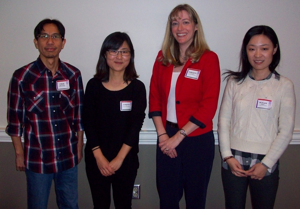 Session III Oral Presenters - Barbie Tootle Room (from left): Umar Abdullah, Juhyun Do, Carolyn Kaplan & Ruilan Zhao.