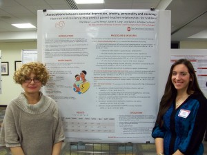 Elly Maras (right). Also pictured: Marina Peeva (College of Arts and Sciences).
