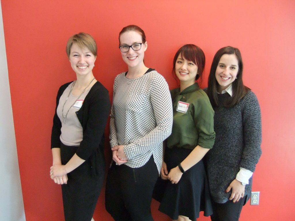 From left: Rachel Arocho, Megan Ferriby, Seulki Ku, Catherine Van Fossen