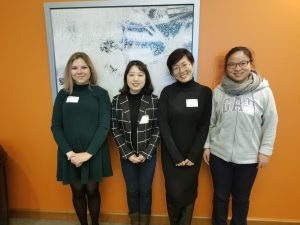 Session I Hayes Cape Room (from left): C. Rosie Bauder, Zhenjie Weng, Wenli Zhang, Xianhua Zai.