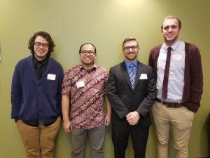 Session I Rosa Ailabouni Room (from left): Zachary Botkins, Taufik Mulyadin, Michael Nelson, Daniel Wray.