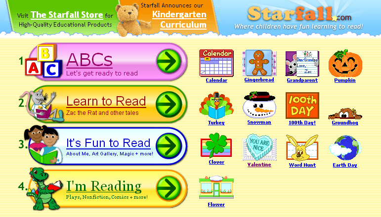 Starfall on Abc Phonics Worksheets