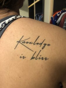 Tattoo of knowledge is bliss