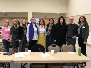 Photo of 9 demographers from the state of Ohio. Includes Karen Guzzo, Kelly Balistreri, Susan Brown, Sarah Hayford, Claire Kamp Dush, Anastasia Snyder, Kelly Purtell, John Casterline, Wendy Manning