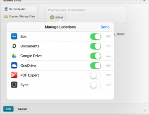 "iOS Upload Step 1 - Add Google Drive to the list of document providers under ""More"""